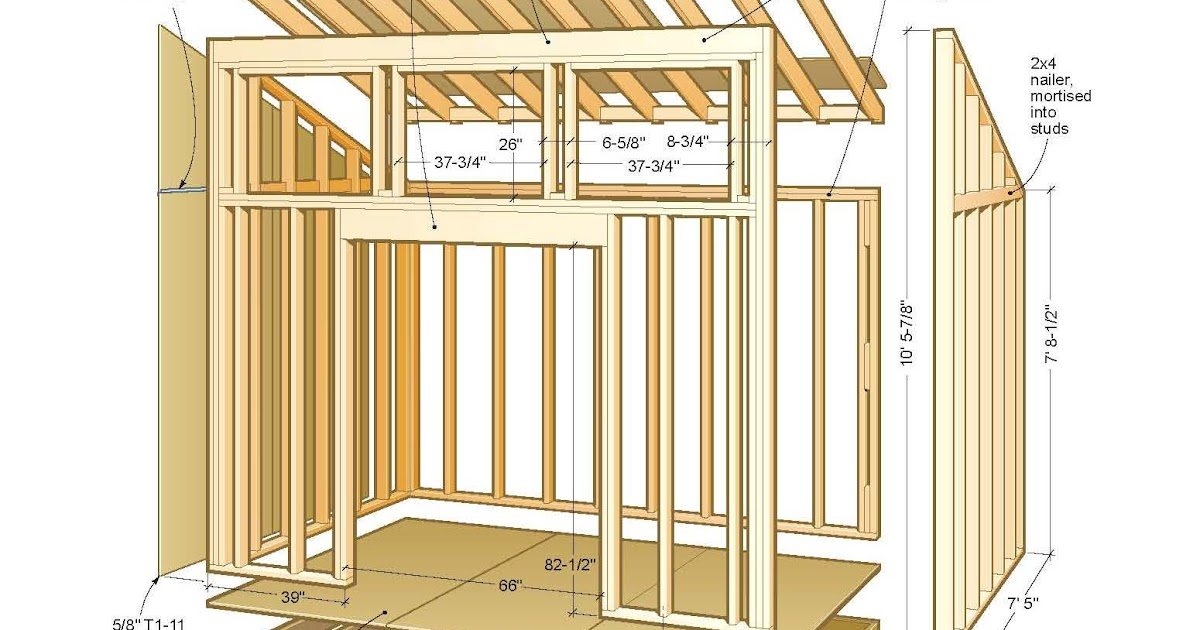 Shed Plans Online: Shed Plans Can Have A Variety Of Roof