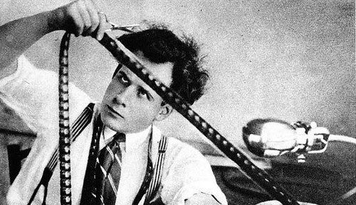 Sergei Eisenstein editing October in 1928