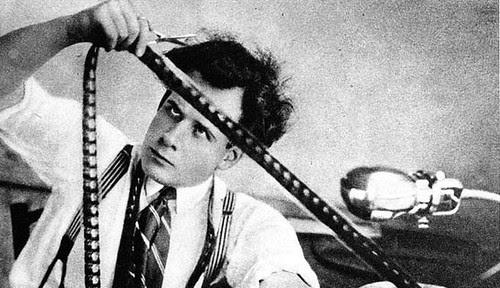 Sergei Eisenstein editing October in 1928