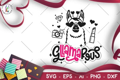 Download Gllamarous Svg Llama Valentine 39 S Day Svg Free
