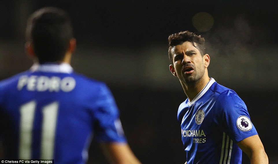 Costa's frustration is there for all to see after Chelsea missed a good chance to open the scoring against their London rivals