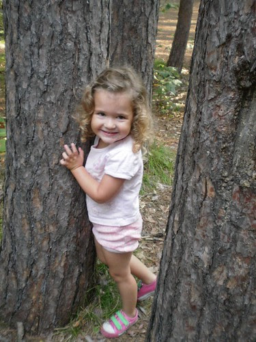 Our little tree hugger
