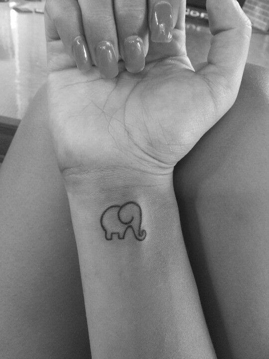 Cute Lovely Elephant Tattoo Tattoomagz