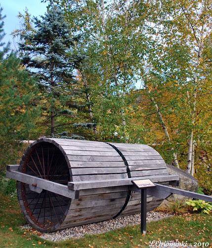 Wooden Snow Roller
