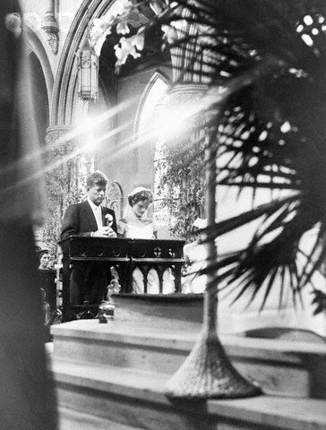John and Jacqueline Kennedy During Their Wedding