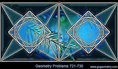 Geometry Problems 721-730: Triangle, Circle, Altitude, Orthocenter, Circumcircle, Perpendicular, Collinearity, Concurrency, Square, Dodecagon, Circumscribed Quadrilateral.