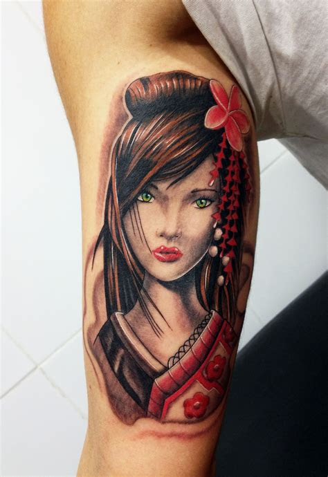 japanese geisha tattoos ideas meanings