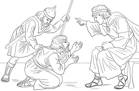 parable of the unforgiving servant coloring page