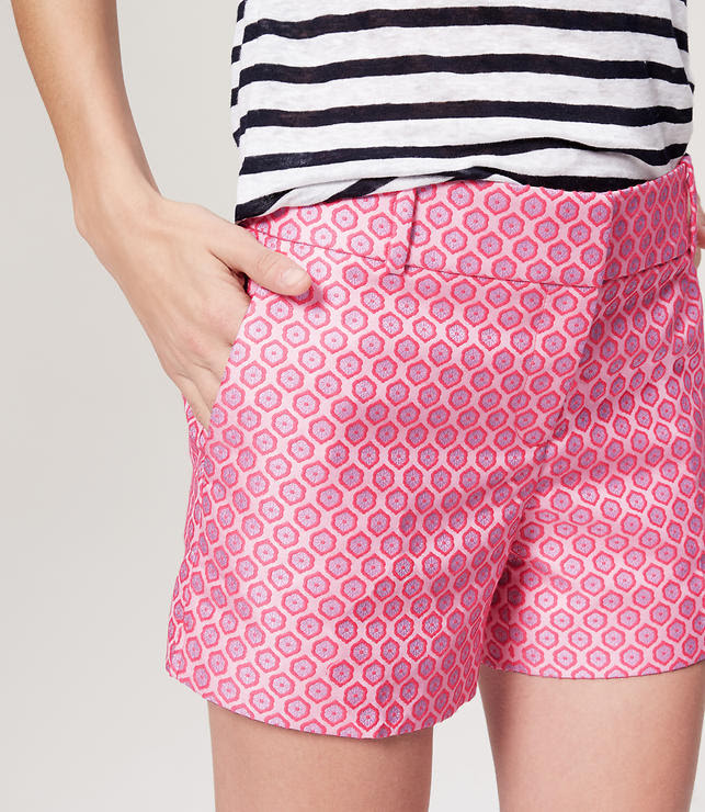 """Thumbnail Image of Color Swatch 5767 Image of Floral Jacquard Riviera Shorts with 4"""" Inseam"""