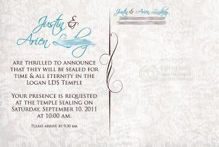 love this wording too!   Sealing Day   Wedding invitations
