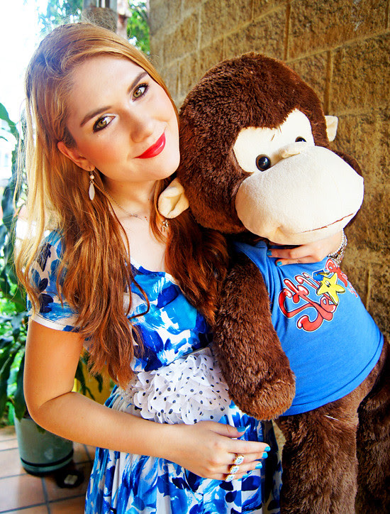 Floral dress and Monkey by The Joy of Fashion (8)