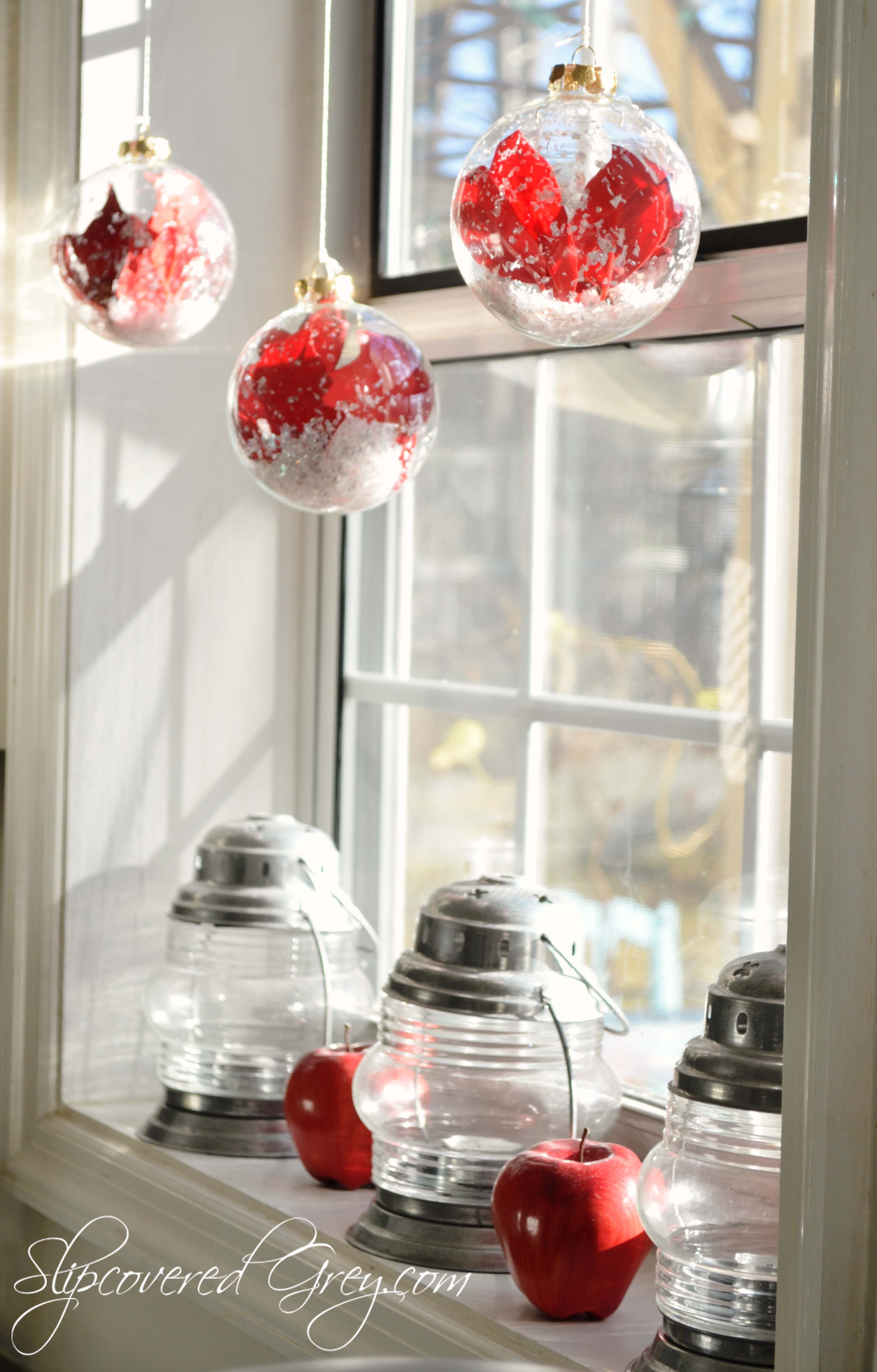 Step In For Some Christmas Cheer - Slipcovered Grey