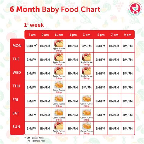 months baby food chart  indian recipes