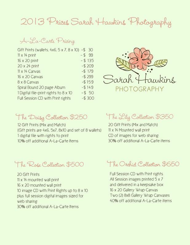 2013 pricing sheet