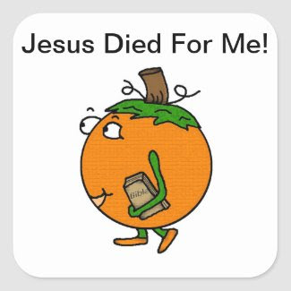 Pumpkin Jesus Died For Me Stickers sticker