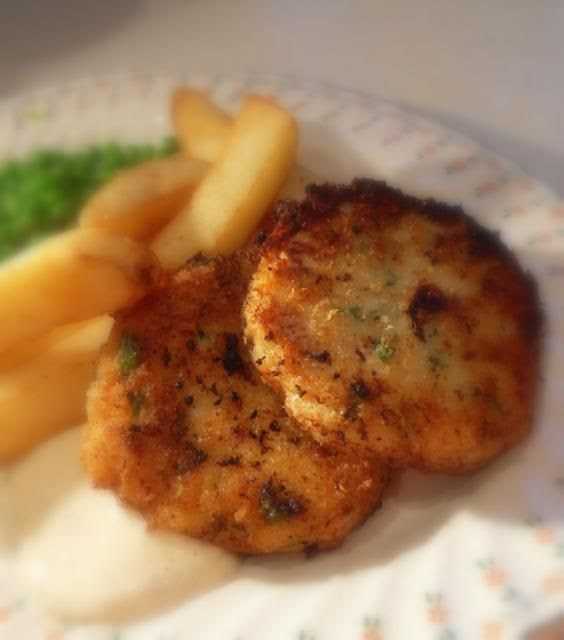 the kitchen stuff away. I thought I would make these lovely fish cakes ...