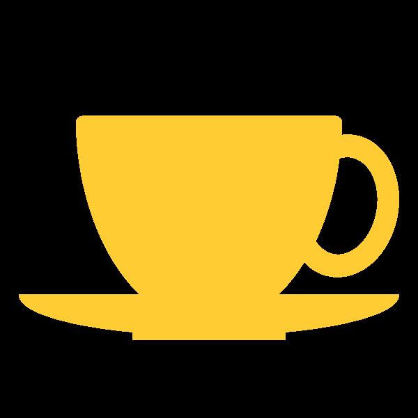 縁無しでかわいいコーヒーカップの無料イラスト商用フリー オイデ43