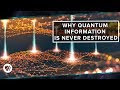 Quantum Information why is Never Destroyed