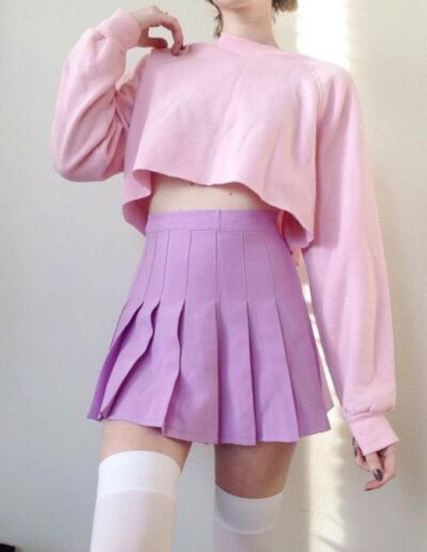skirt top pastel pink pastel kawaii  wheretoget