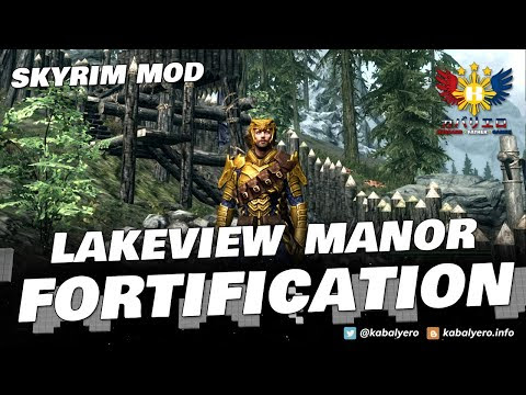 THE ELDER SCROLLS V SKYRIM Gameplay! LAKEVIEW MANOR FORTIFICATION!