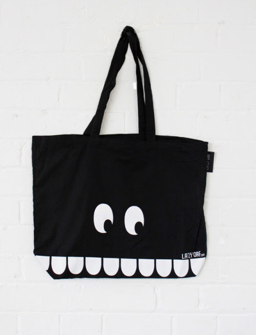 Take a bite out of our latest tote bag. It's pretty toothy.