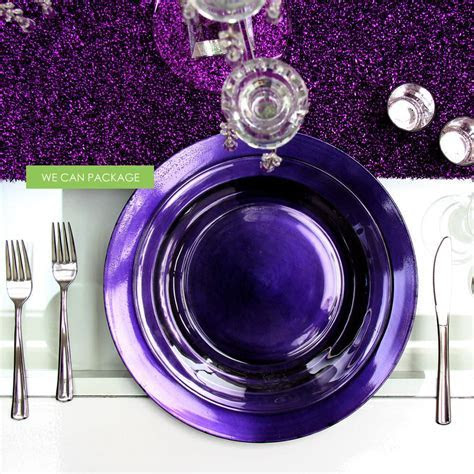 Purple Charger Plate   Cheap Charger Plates   Wedding Plates