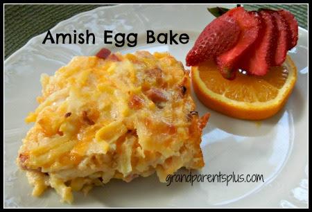 Amish Egg Bake  #egg bake #egg casserole #gluten-free   www.grandparentsplus.com
