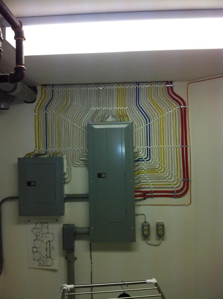 Instal·lació de cables MOLT ordenada