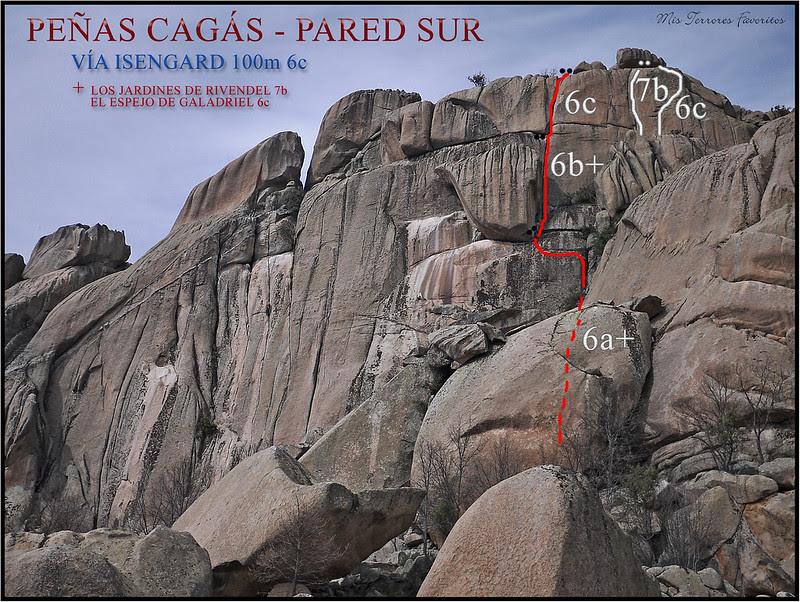 RESEÑA  VÍA ISENGARD 100 m E.D. 6c - PEÑAS CAGÁS