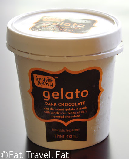 Fresh & Easy Dark Chocolate Gelato Container