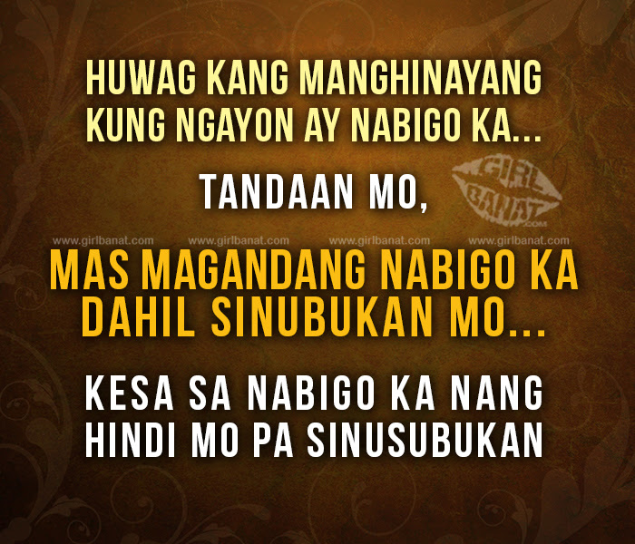 Tagalog Motivational Quotes And Messages Girl Banat