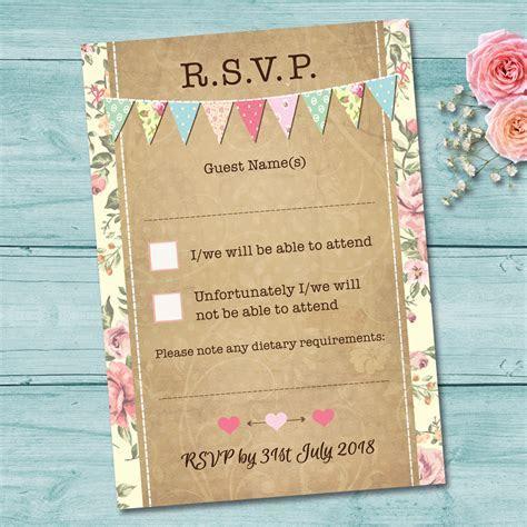 Pastel Bunting Wedding Invitation Set   Elisa by Design