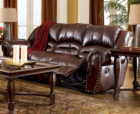 leather ashley colton burgundy reclining sofa loveseat ebay