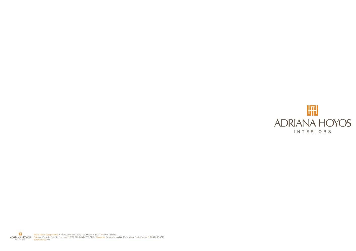 Adriana Hoyos Interiors Adriana Hoyos Pdf Catalogues