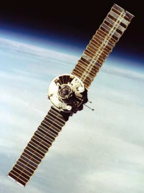 El módulo Kristall antes de acoplarse a la Mir (Roscosmos).