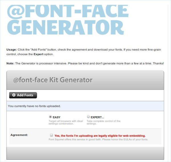 Font-Face Generator - Herramienta web para trabajar con tipografías