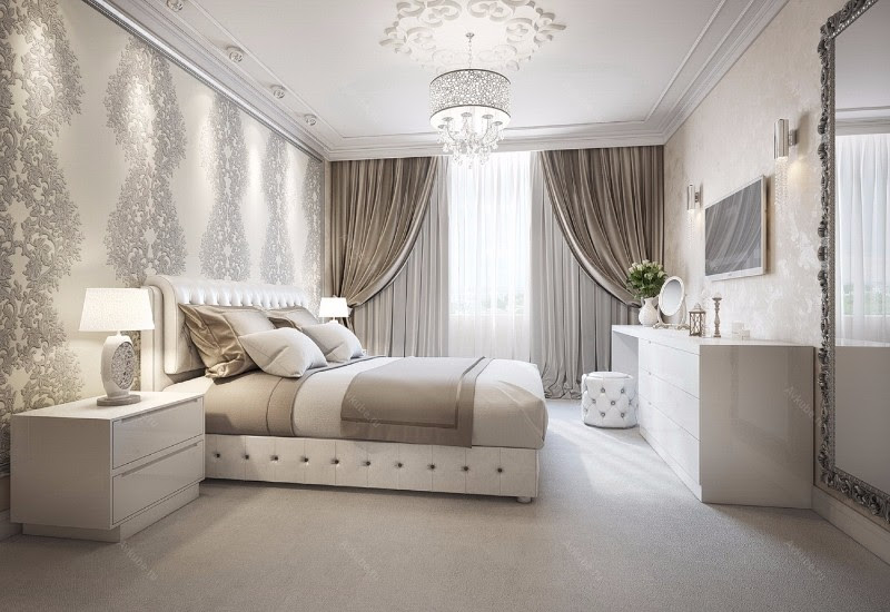 Sumptuous Bedroom Inspiration in Shades of Silver - Master ...