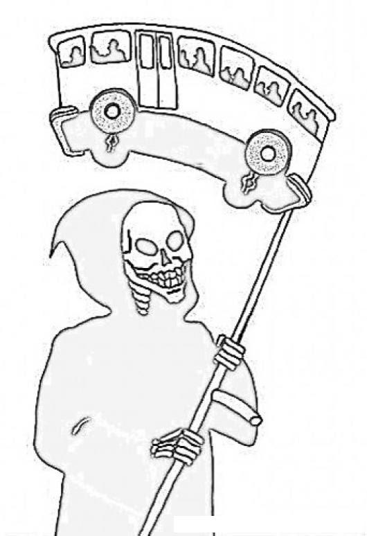 Busazo Dibujo Del Bus De La Muerte Para Pintar Y Colorear Bus Sin