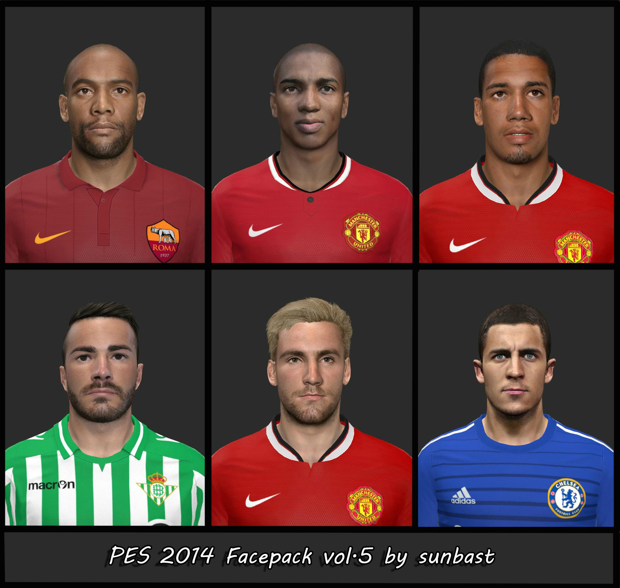 PES 2014 Facepack vol.5 by sunbast