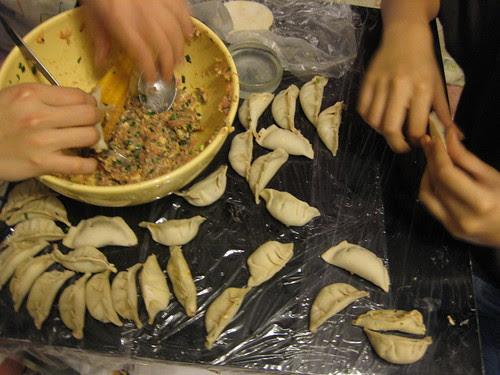 dumplings making