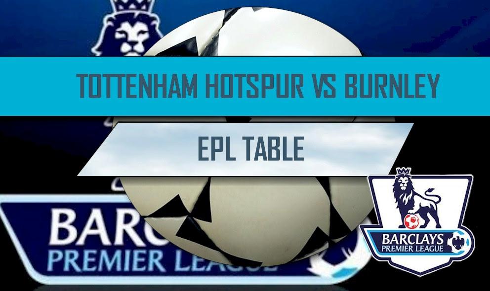 Tottenham Hotspur vs Burnley Score Updates EPL Table Results