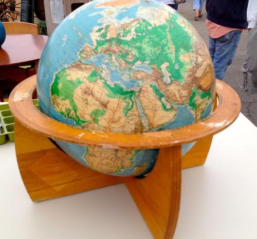Mid-Century globe on stand