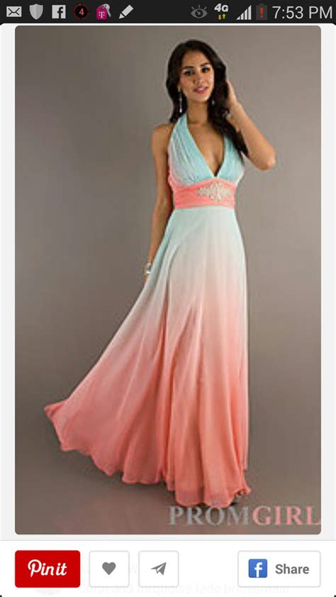 halter evening gown betsy  adam long ombre dresses
