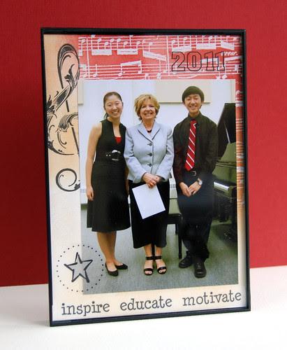 photo frame (gift for piano teacher)