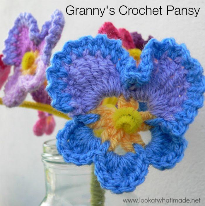 Granny's Crochet Pansy Pattern
