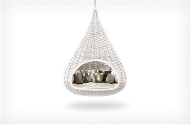 Hanging Chair Lounge White Colored