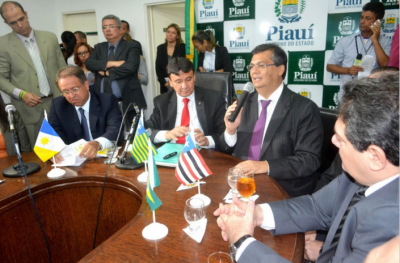 Flávio Dino com o governador do Piauí, Wellington Dias
