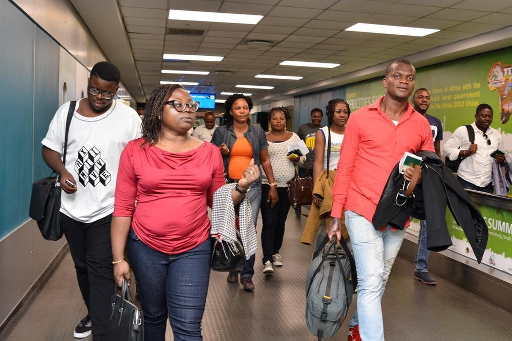 Iyabo Ojo, Odunade Adekola, Kunle Afolayan, Omotola and others arrive in South Africa for the 2015 AMAA