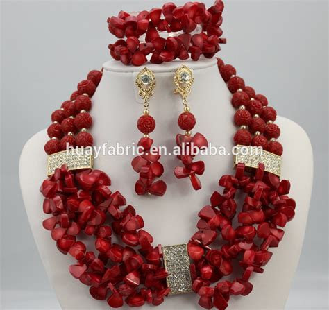 Purple Gorgeous African Coral Beads Jewelry Set Handmade