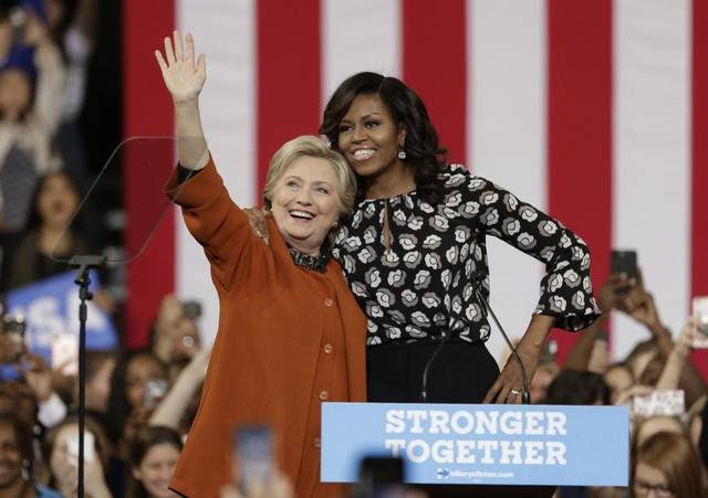 Image result for Clinton and Michelle in North Carolina pictures